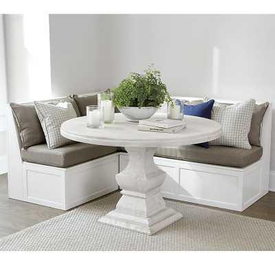 "Ballard Designs Breton 3pc Banquette with Seat & Back Cushions - 30"" Bench, 48"" Bench & Corner Bench - Ballard Designs"
