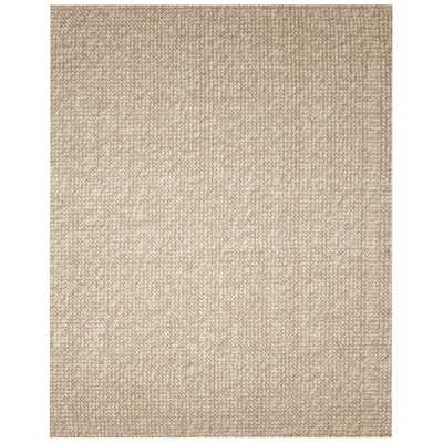 Zatar Beige and Tan 8 ft. x 10 ft. Wool and Jute Area Rug, Tan/White - Home Depot