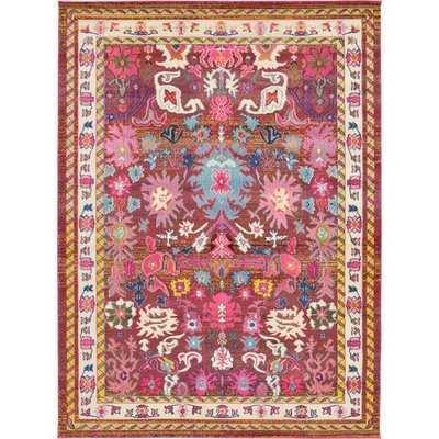 Iris Pink Area Rug - Wayfair