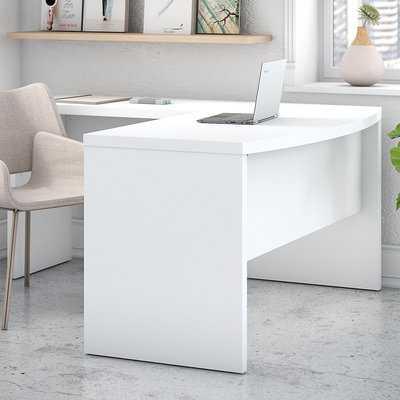 Echo Bow Front L-Shaped Computer Desk - Wayfair