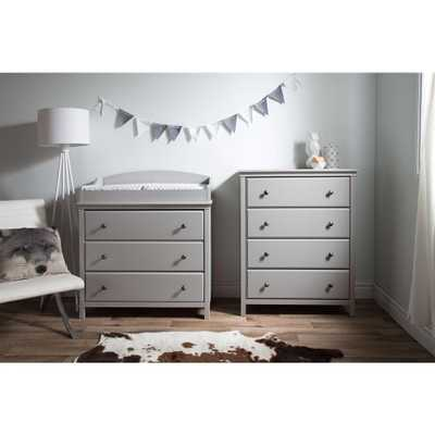 Cotton Candy 3-Drawer Soft Gray Changing Table - Home Depot