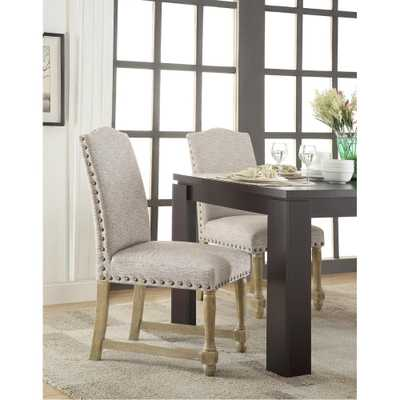 Kingman Edward Gray Dining Chair, Edward Flannel - Home Depot
