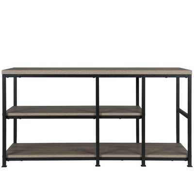 55 in. Montgomery Rustic Oak TV Stand - Home Depot