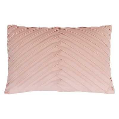 James Pleated Velvet Oversize Lumbar Throw Pillow Pink - Decor Therapy - Target