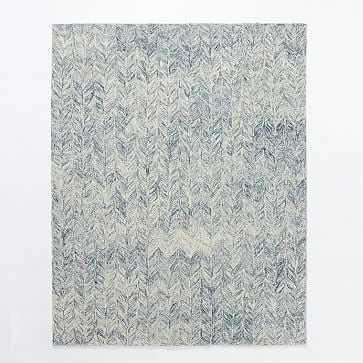 Vines Wool Rug, 8'x10', Blue lagoon - West Elm