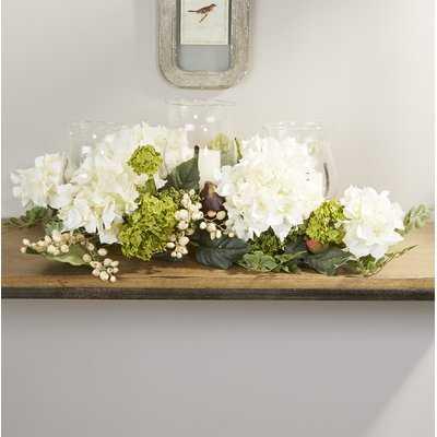 Hydrangea Centerpiece in Candelabrum - Birch Lane