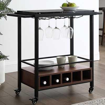 George Oliver Moshe Bar Cart: Black Faux - eBay