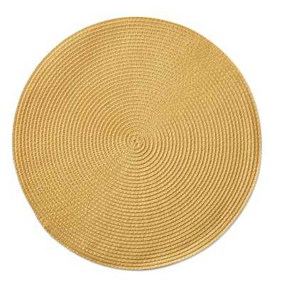 Round Woven Place Mats Set of 2, Happy Yellow - Williams Sonoma