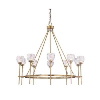 Filament Design 10-Light Warm Brass Chandelier - Home Depot