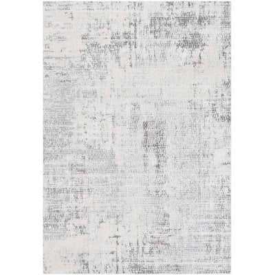 Heger Distressed Abstract Gray/Taupe Area Rug - Wayfair