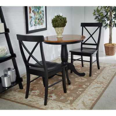 Black Wood X Back Dining Chair (Set of 2) - Home Depot