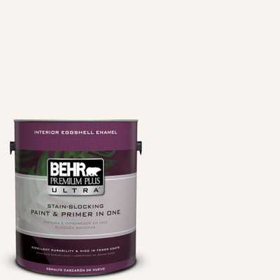 BEHR Premium Plus Ultra 1 gal. #pwn-30 Clear Moon Eggshell Enamel Interior Paint and Primer in One - Home Depot