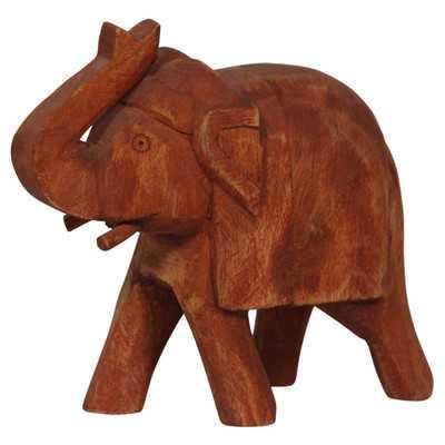 Fall Wood Elephant Figurine - Wayfair