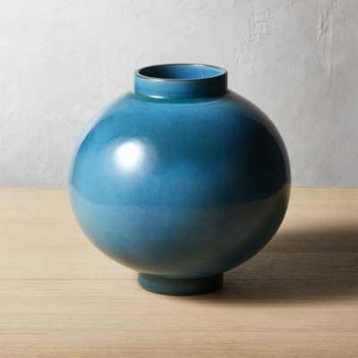 Serena Teal Blue Vase - CB2