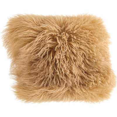 Becky Mongolian Fur Throw Pillow - Wayfair