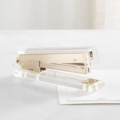Russell + Hazel Gold and Acrylic Stapler - Crate and Barrel
