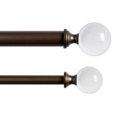 Ballard Designs Crystal Ball Drapery Finials - Set of 2, Bronze - Ballard Designs