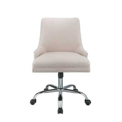 Yuval Beige Office Chair - Home Depot