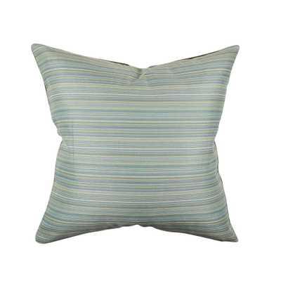 Blue Ticking Stripe Throw Pillow - Home Depot