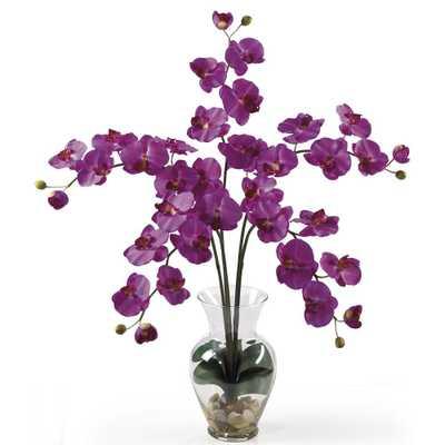 31 in. Phalaenopsis Liquid Illusion Silk Flower Arrangement in Orchid - Home Depot