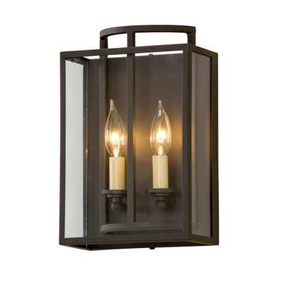 Troy Lighting Maddox 2-Light Textured Bronze Wall Mount Sconce - Home Depot