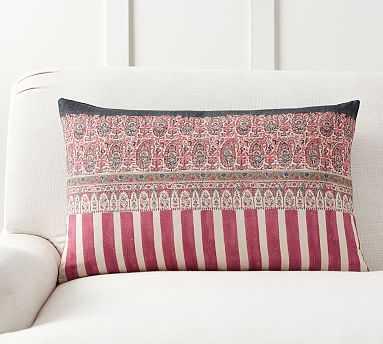 "Pomona Kalamkari Lumbar Pillow Cover, 16 x 26"", Multi - Pottery Barn"
