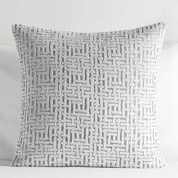 Allover Crosshatch Jacquard Velvet Pillow Cover - West Elm