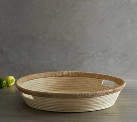 Concentric Reed Tray with Seagrass Trim - Pottery Barn