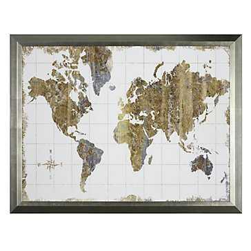 Gilded Map - Framed - Z Gallerie
