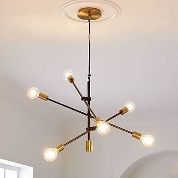 "Mobile Chandelier, Two-Tone, 29"" - West Elm"