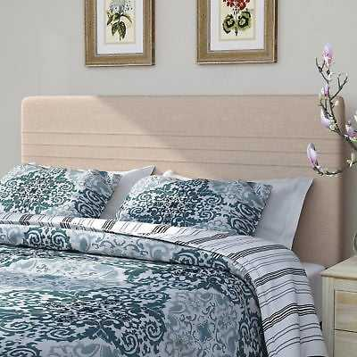 Alcott Hill Hadleigh Upholstered Panel Headboard: Sterling Oyster - Full/Queen - eBay