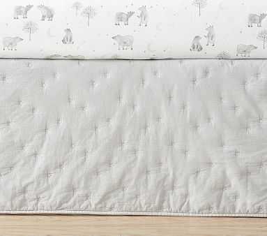 Organic Finley Crib Skirt, Light Grey - Pottery Barn Kids