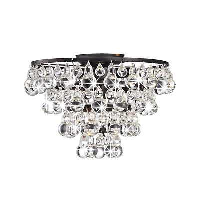 Tranquil Crystal and Bubble Flush-mount Chandelier - eBay