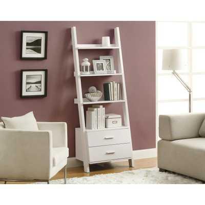 White Storage Open Bookcase - Home Depot