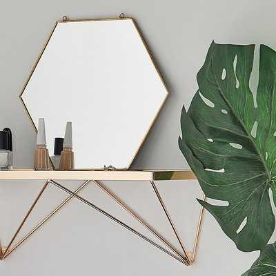 Lofton Hexagon Wall Mounted Accent Mirror - Wayfair