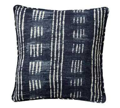 "Shibori Dot Pillow, Blue, 20"" - Pottery Barn"