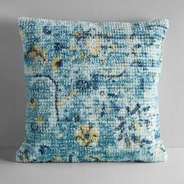 "Rani Rug Pillow Cover, Blue Teal, 20""x20"" - West Elm"