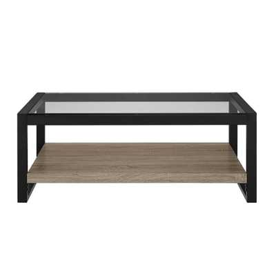 Urban Blend Driftwood (Brown) Storage Coffee Table - Home Depot