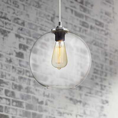 "Tarryton 9 3/4"" Wide Industrial Chrome Mini-Pendant - Style # 5V119 - Lamps Plus"