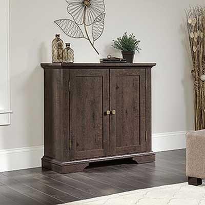 New Grange Coffee Oak Accent Storage Cabinet - Home Depot