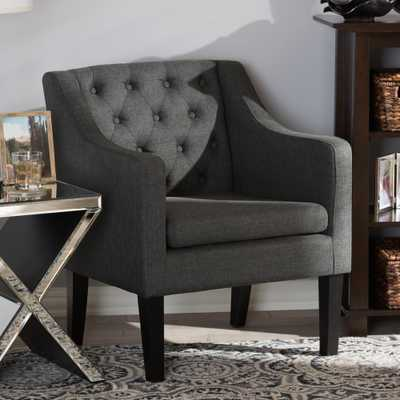 Brittany Gray Fabric Upholstered Accent Chair - Home Depot
