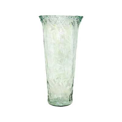 Rhea 20 in. Glass Decorative Vase in Recycled Glass Finish, Clear - Home Depot