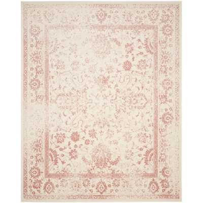 Adirondack Ivory/Rose (Ivory/Pink) 8 ft. x 10 ft. Area Rug - Home Depot