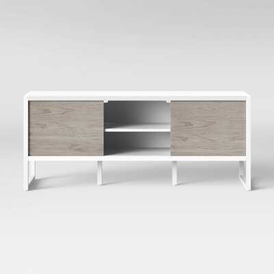 Fairglen Two Tone Media Stand with Storage Natural/White - Project 62 - Target