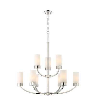 Filament Design 9-Light Polished Nickel Chandelier - Home Depot
