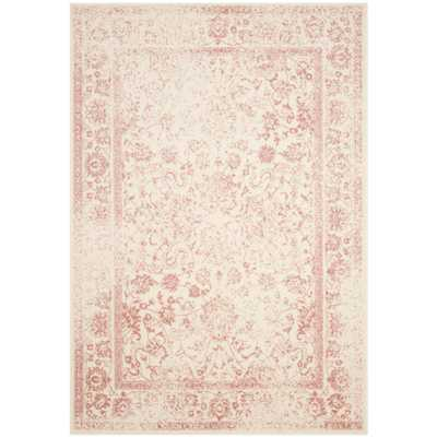 Adirondack Ivory/Rose (Ivory/Pink) 6 ft. x 9 ft. Area Rug - Home Depot