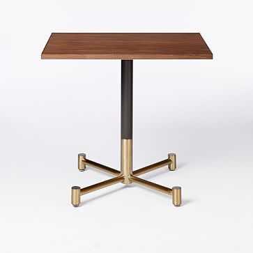 Branch Base Rectangular Dining Table, Dark Walnut, Antique Bronze/Blackened Brass - West Elm