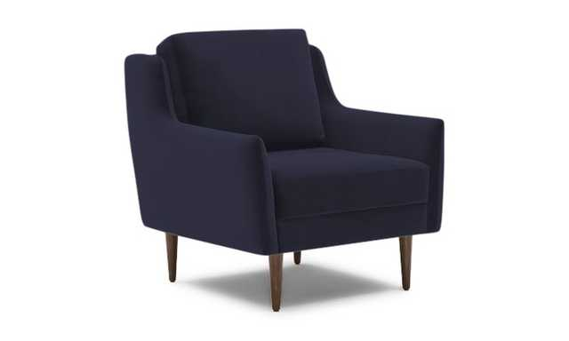 Blue Bell Mid Century Modern Chair -Chance Denim - Coffee Bean - Joybird