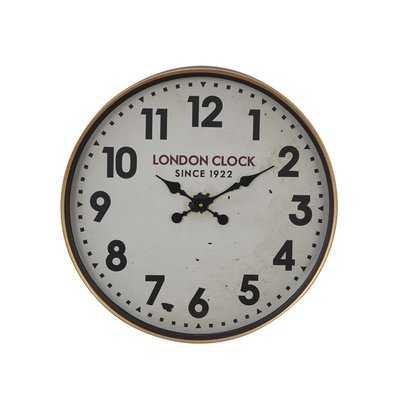 "Buren Vintage London-Inspired Round 12"" Wall Clock - Wayfair"