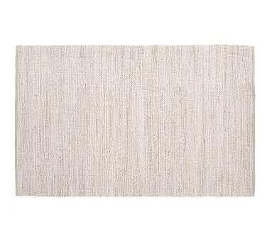 Heather Chenille Jute Rug, Gray, 5 x 8' - Pottery Barn